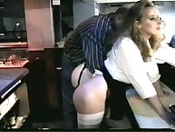 Two youthful girls receiving spanked