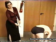 Lesbian beating in the office