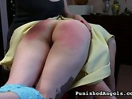 Girls tied and severely flogged
