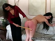 Ariel getting her bare wazoo spanked
