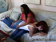 Young Annabelle gets spanked otk