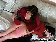 Handsome skirt has her posterior lathered