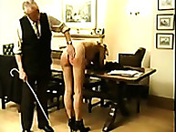 Two exposed strumpets Spanked on Their Asses