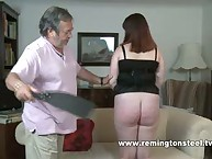 Big babe was spanked