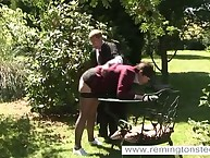 Punished by Spanking in the Garden