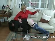 OTK spanking from strict mistress