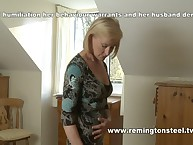Elderly wife spanked animal play home