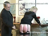 Elderly whife getting domestic caning