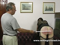 Perverted granny craving for caning