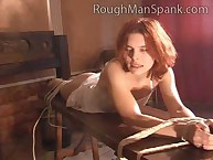 Cute Redhead Takes Switch Across Her Bare Ass