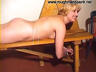 Mom was bound and spanked hard