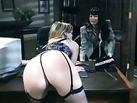 Boss spanked heavy her secretary