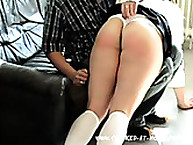Schoolgirl Receives Hard Hand Spanking Punishment