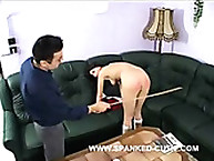 Tall Slutty Bitch Gets Hard Hand Spanking