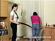 Cute Skinny Girl Receives Hard Paddling Punishment