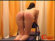 Hard spanked arse got massaged