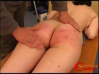 Lustful wench has fell spanks on her nates