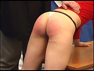 Big ass swollen after caning
