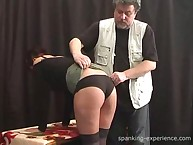 Brunette with cool ass was spanked