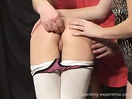 Charming fille gets her rump flogged