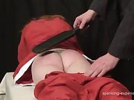 Crismas spanking with cool babe