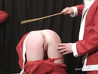 Cristmas beating of bad chick