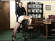 The final act with hard spanking