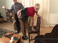 Cocksucking Cunt Takes Bent-Over Paddling Punishment