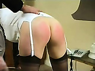 Sweet girl was flogged in bdsm way