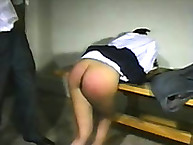 Mrs Dilgado doing caning