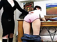 Naughty teen gets Bent Over and Spanked