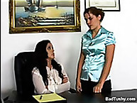 Office Skank Brutally Punished Over the Knee