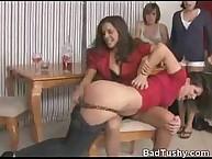 Girls Watch Their Friend Get Spanked Hard