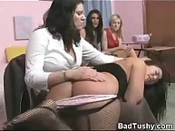 Salacious quean gets severe whips on her derriere