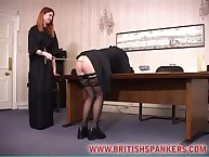 Extreme caning of bad lass