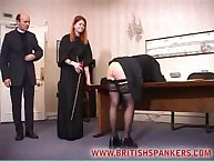 Extreme spanking for the bitch