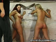 Two bound beauties were spanked