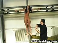 Whipping training for hawt girl