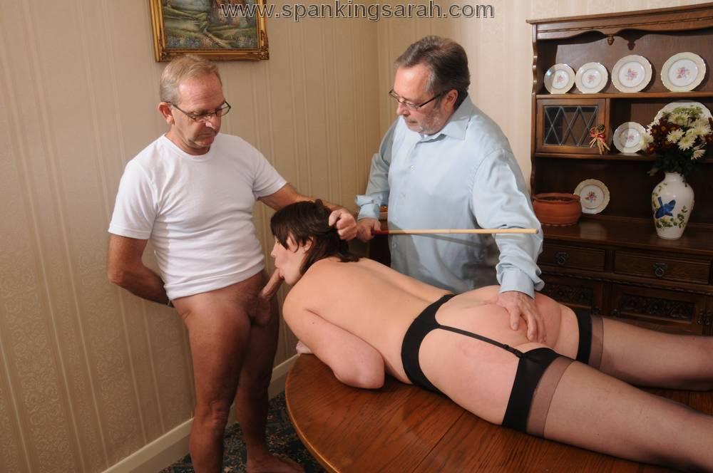 spanking blowjob