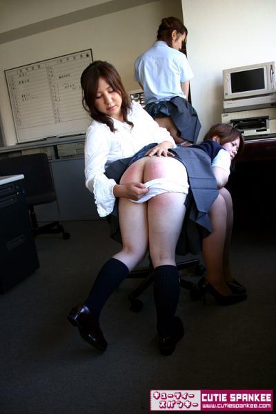 spanked japanese school girls