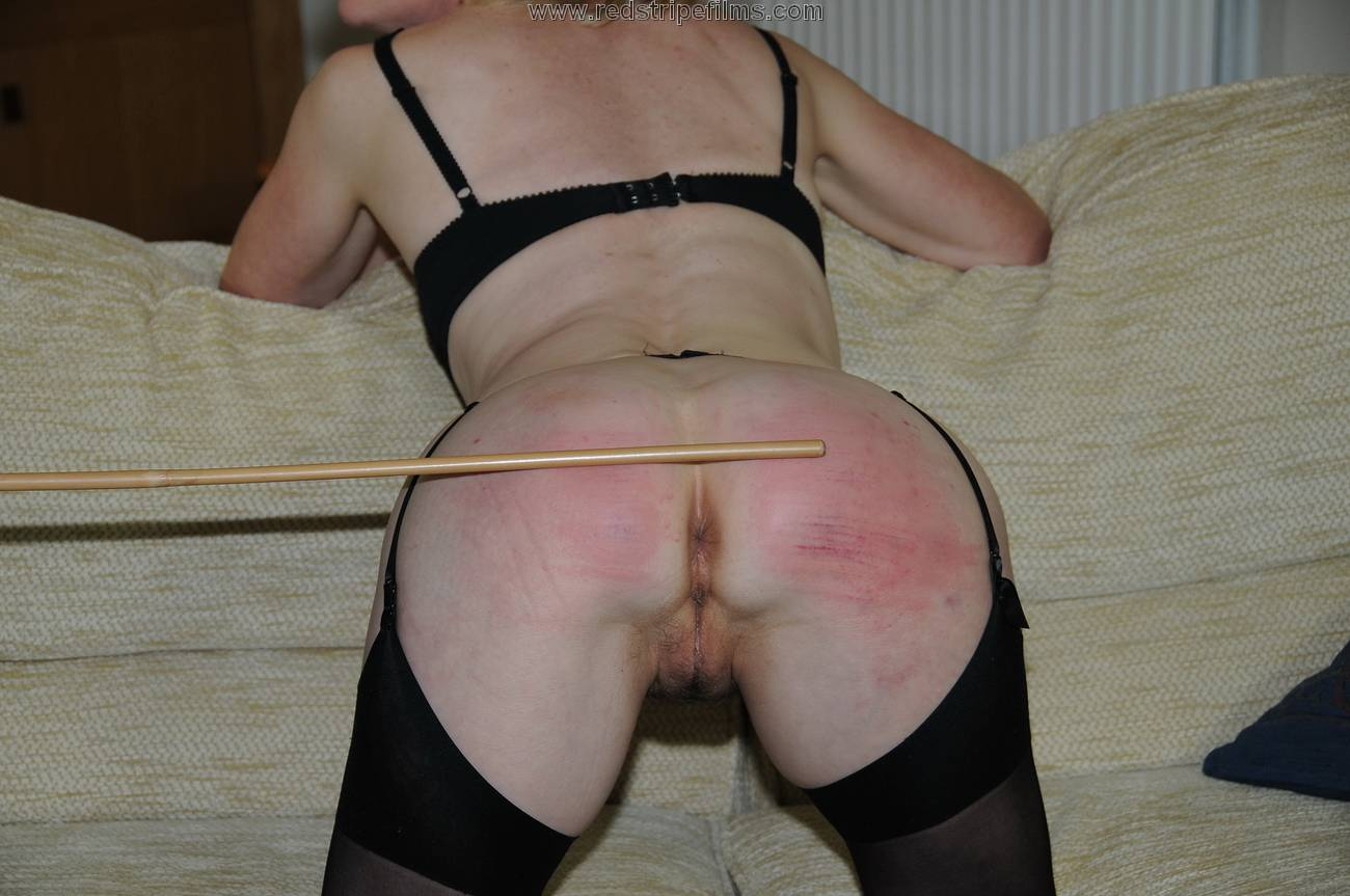 Red stripe spanking