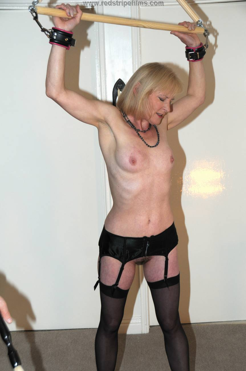 Stripe spanking red