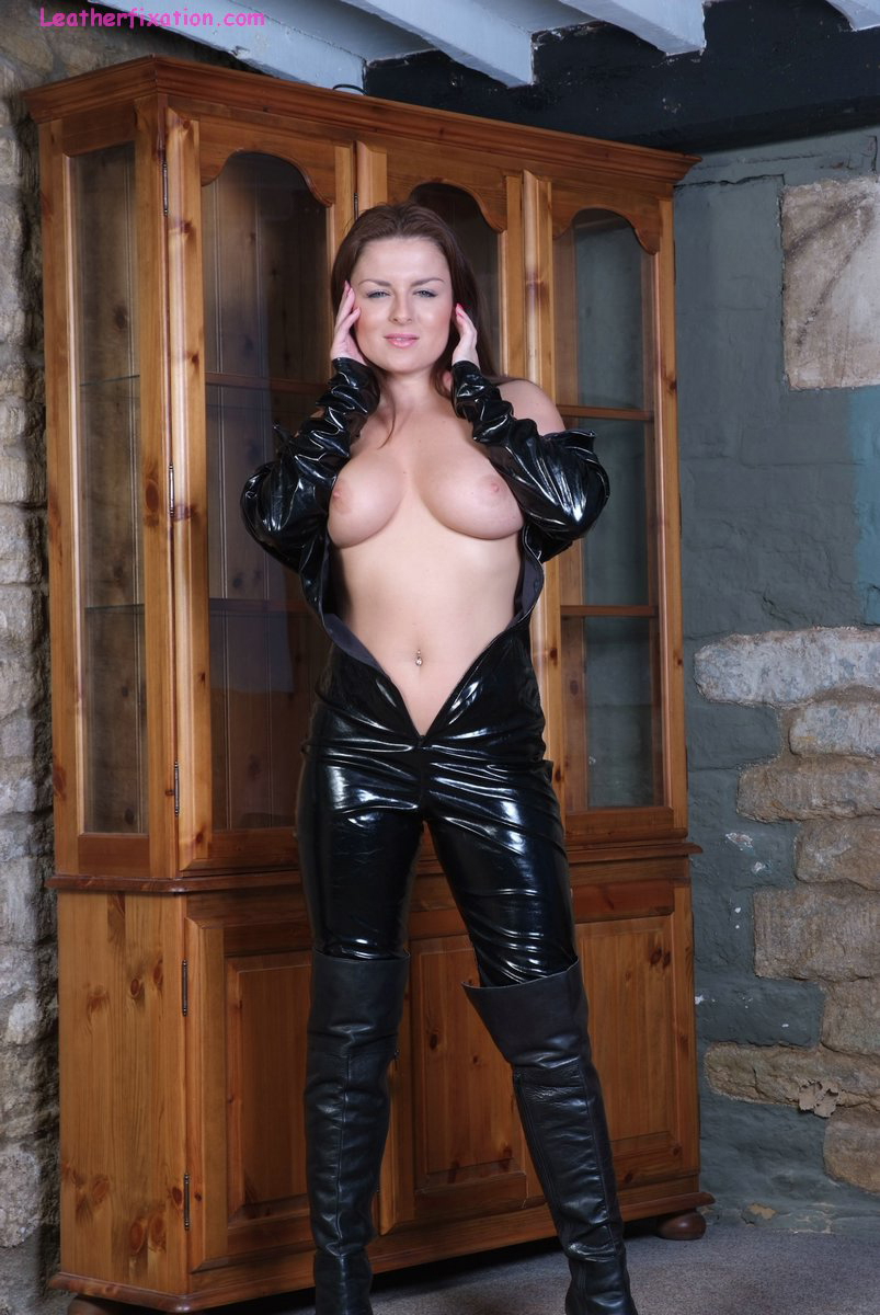 leather catsuit porn