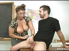 Teen dude Billy blow and jerked by his teacher