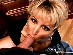 Nasty hot wife sucking big dick and getting facial