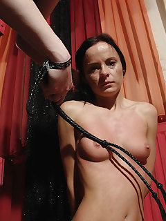 4 of Mistress cracked down on her with a whip attack