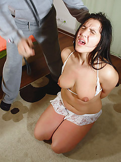 4 of Hard breast punished slavegirl, Tisha