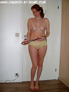 12 of Redhead girl with cane