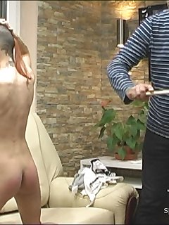 14 of School Test and Education Spanking (part 2 - angle 2)