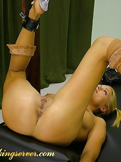 16 of Blonde babe gets whipped